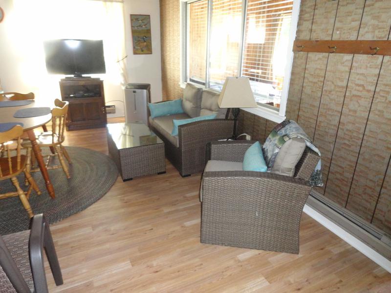 Blue cottage  living room