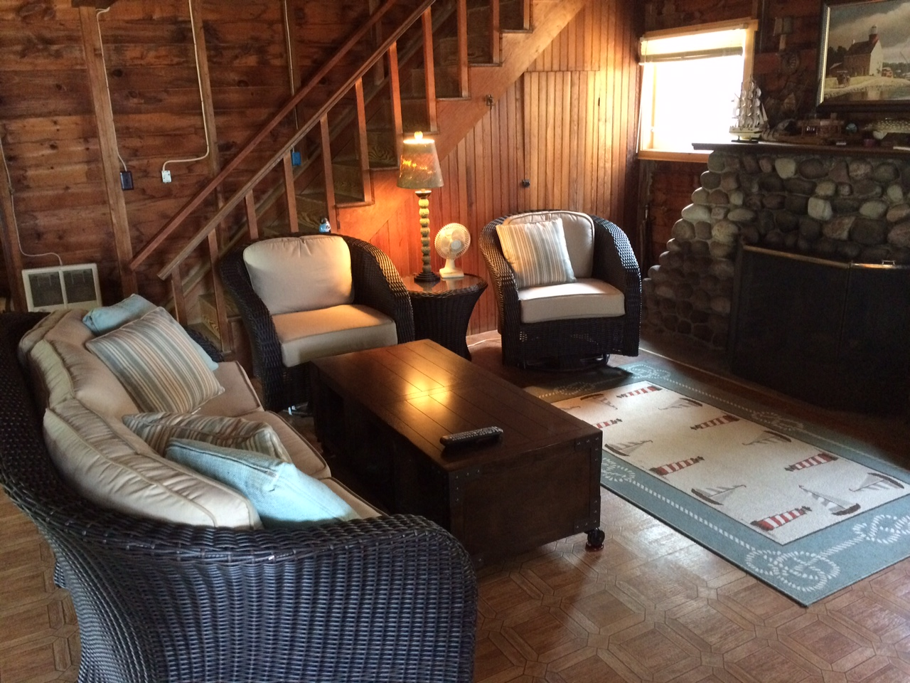 North cottage living room