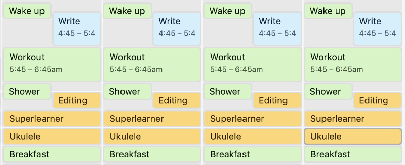 Set of activities I do before starting my work at 9am.