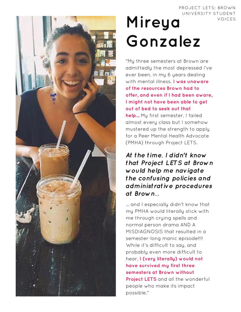 Project LETS: Brown University Student Voices - Mireya Gonzalez