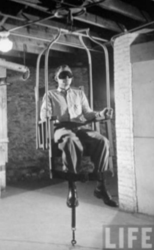 Benjamin Rush's 'Spin chair' (LIFE Magazine)