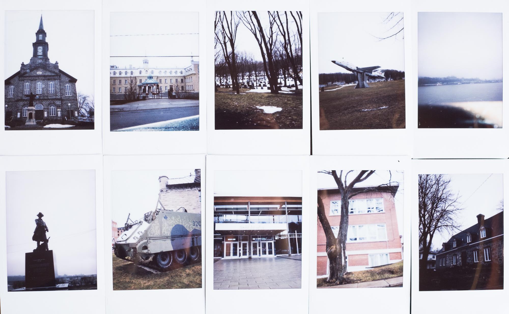 Oeuvre réalisée au polaroid en collaboration avec Paul Robitaille, 7 ans. La série traite de la perception d'un jeune garçon sur l'urbanité et la place qu'y occupe la nature.  Commande pour le projet Encann' 2017 du centre d'artiste Regart, à Lévis.   http://www.centreregart.org/encann-2017/