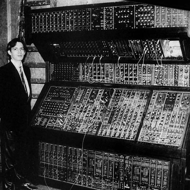 Hans Zimmer with his Moog modular