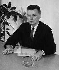 Paul Rudolph in 1958   Photo: Yale University