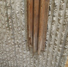 Detail of the concrete formwork   Photo: Kelvin Dickinson