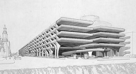 Temple Street Parking Garage, 1959-1963