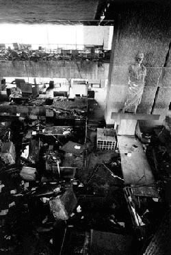The damaged interior   Photo: Yale University