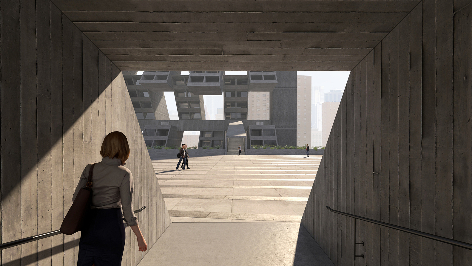 Entering the plaza.  Image: Lasse Lyhne-Hansen
