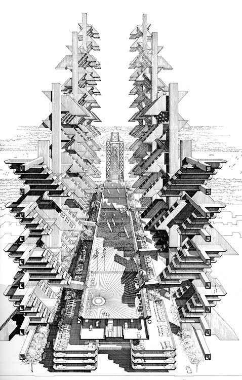 Rudolph's original section perspective. Image: Paul Rudolph Heritage Foundation