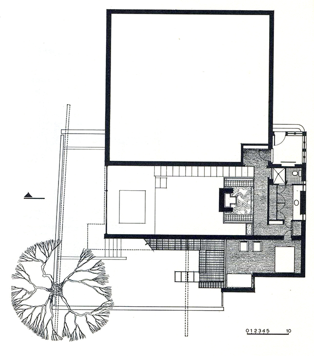 Rudolph's drawing of the second floor. Image: Paul Rudolph Heritage Foundation Archives