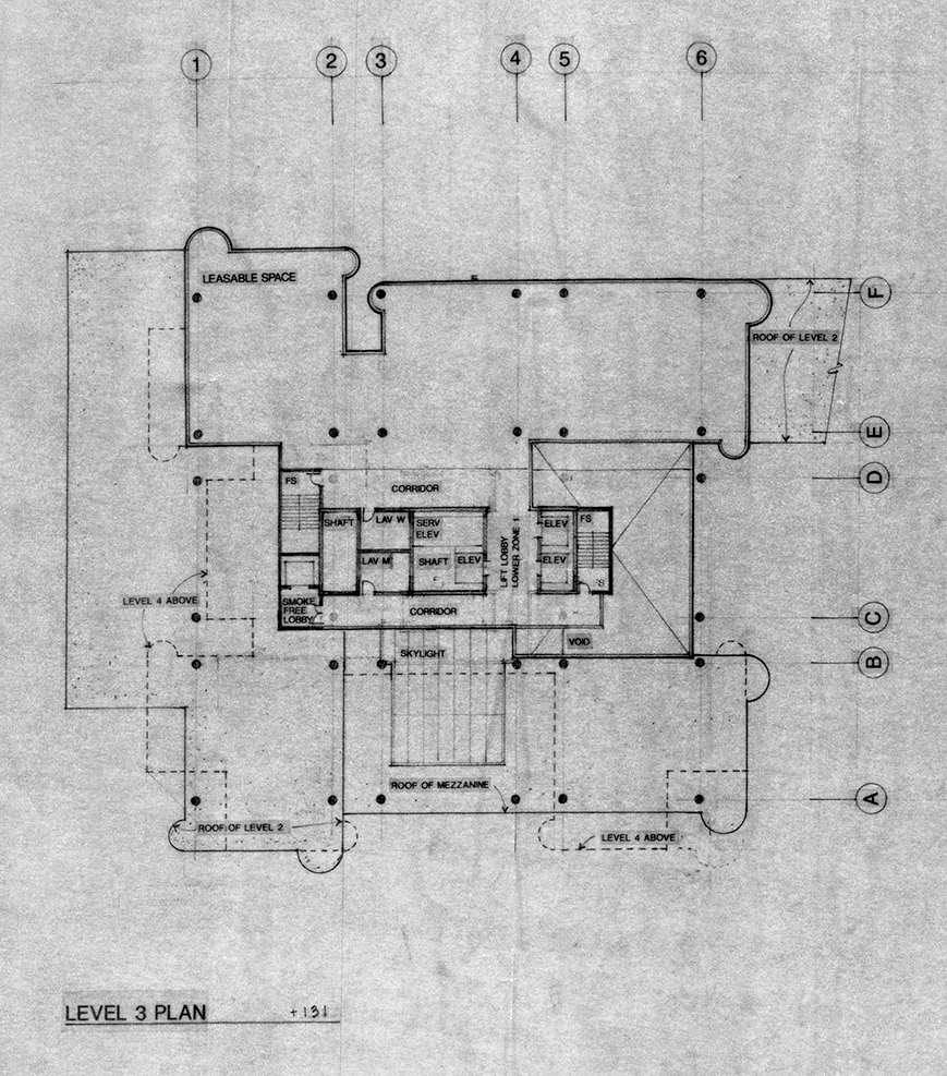 Level 3 plan. Image: Paul Rudolph Heritage Foundation Archives