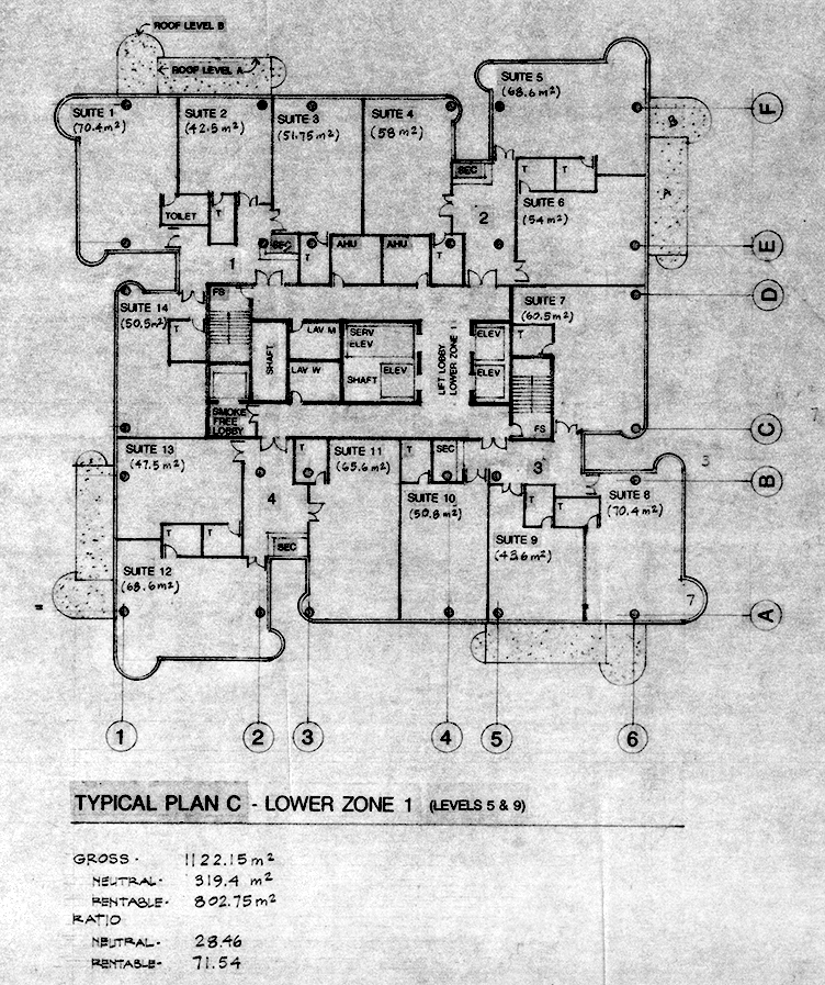 Tower Plan C - Lower Zone 1. Image: Paul Rudolph Heritage Foundation Archives