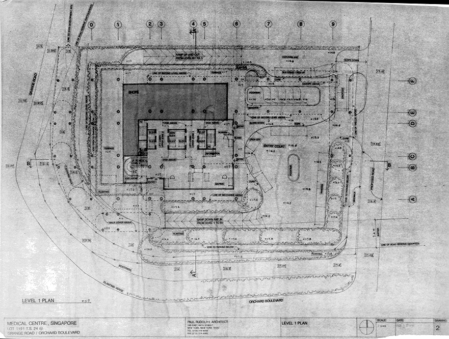 Rudolph's proposed site plan. Image: Paul Rudolph Heritage Foundation Archives