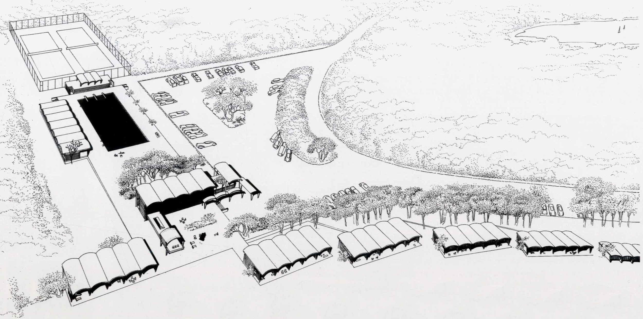Rudolph's first proposal for the project. Image: Paul Rudolph Heritage Foundation Archives