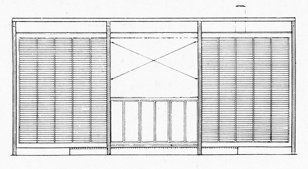 Pool-side Elevation. Image: Paul Rudolph Heritage Foundation Archives
