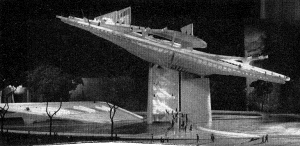 Paul Rudolph's presentation model. Photo: Architectural Record, July 1961