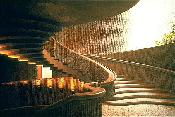 A staircase in Paul Rudolph's Government Service Center in Boston. Photo: NCSU Libraries