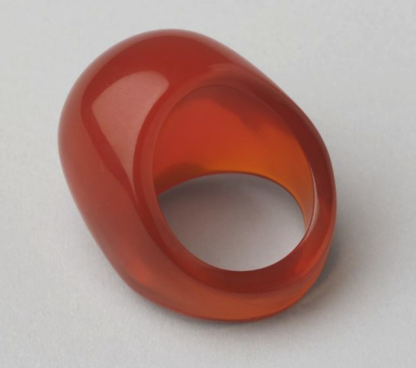 "A plastic ""mood ring"", designed by Stephen Broday and Dan Stoenescu.. Photo: The Museum of Modern Art"