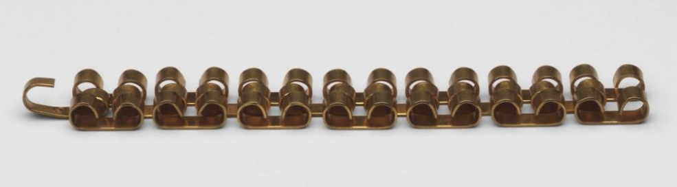 A brass bracelet by an unknown designer, circa 1940. Photo: The Museum of Modern Art