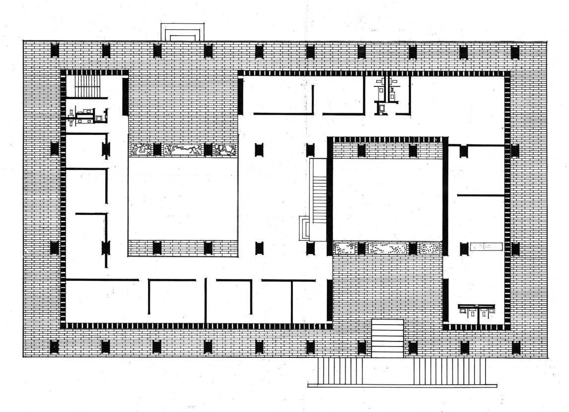 Embassy of the United States, Amman, Jordan. Ground Floor Plan.