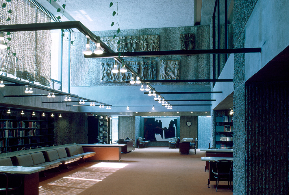 Yale Art & Architecture Building.  Building Interior. Photo taken between 1961-1963.