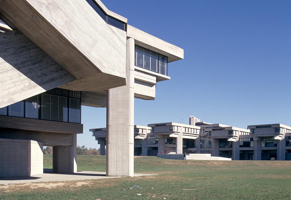 SMTI (Southeastern Massachusetts Technological Institute - now UMass Dartmouth) .  Building Exterior. Photo taken between 1963-1972.