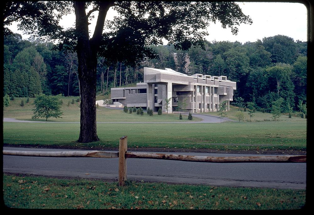Charles A. Dana Creative Arts Center.  Building Exterior.  Photo taken in 1966.