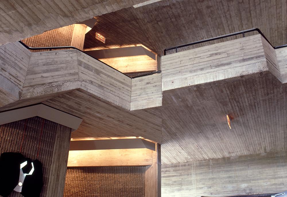Charles A. Dana Creative Arts Center.  Building Interior.  Photo taken in 1966.