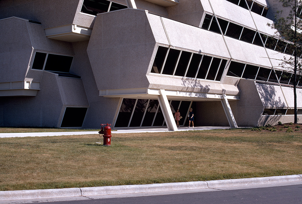 Burroughs Wellcome Corporate Headquarters.  Building Exterior.  Photo taken between 1970-1972.