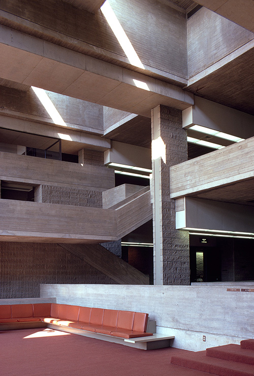 Orange County Government Center.  Building Interior.  Photo taken between 1968-1970.