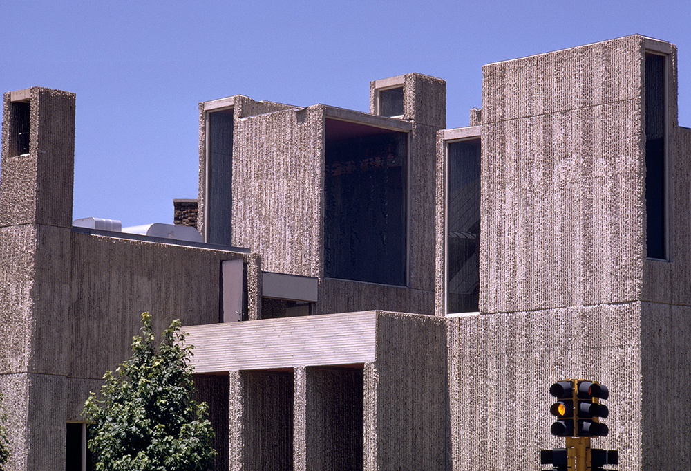 Christian Science Student Center.  Building Exterior.  Photo taken between 1962-1965.