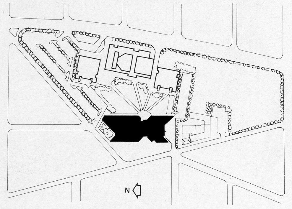 Niagara Falls Public Library.  Site Plan.  Presentation.