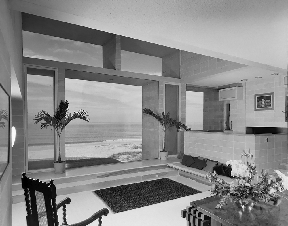 Milam Residence. Building Interior.  Photo taken January 25, 1962.
