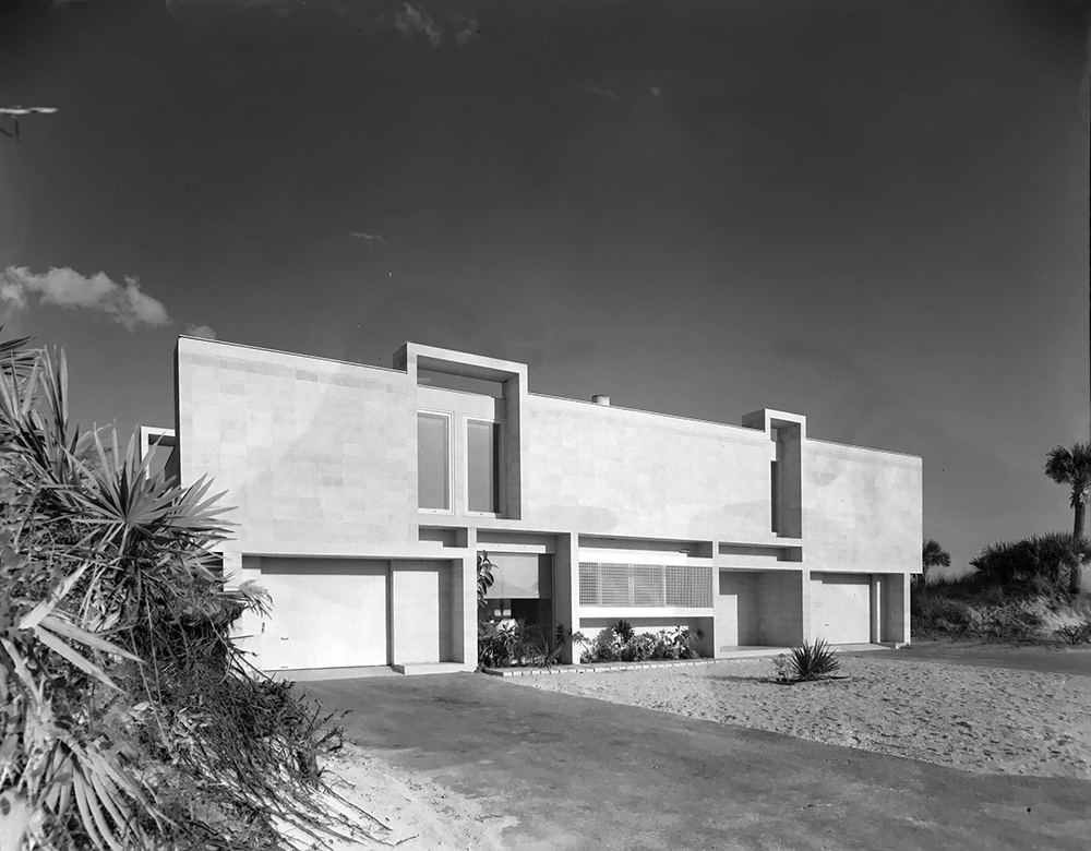 Milam Residence. Building Exterior.  Photo taken January 25, 1962.