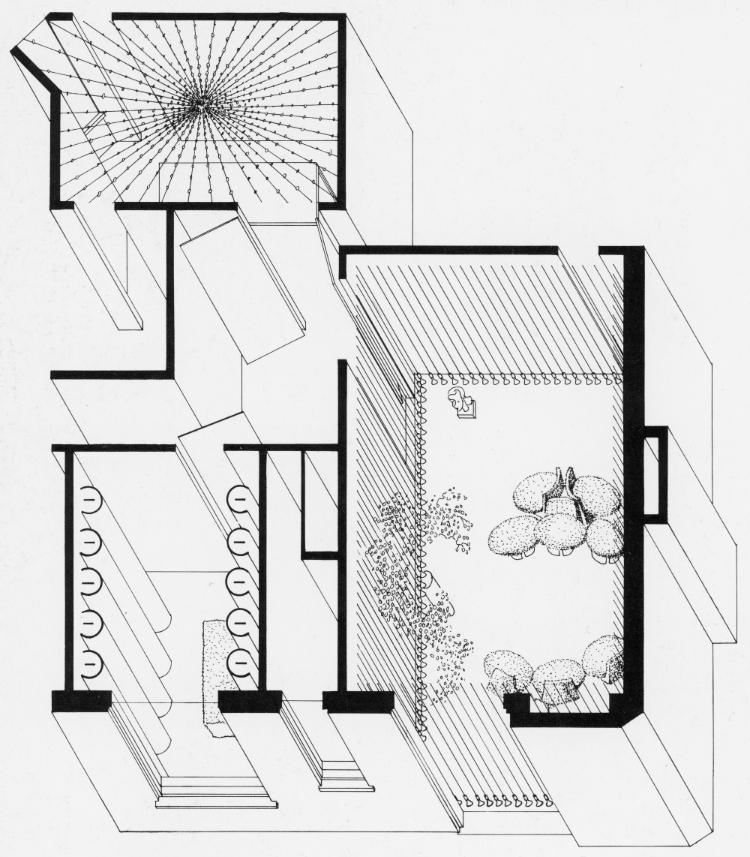 Elman Residence, New York City. Axonometric Floor Plan.