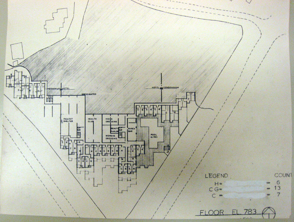 Jerusalem Apartment-Hotel Complex. Floor Plan at Elevation 783.  Presentation.