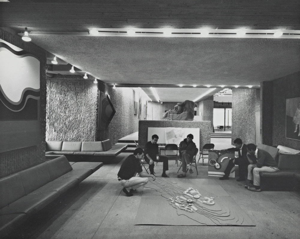 Yale Art & Architecture Building.  Building Interior.  Photo taken in 1963.