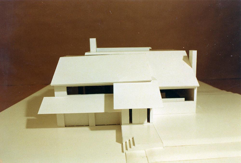 Treistman Residence.  Project Model.  Photo taken in May 1987.