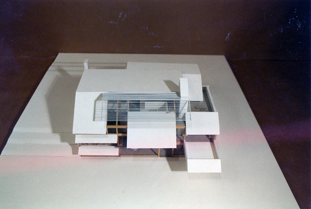 Treistman Residence.  Project Model.  Photo taken in May 1987.