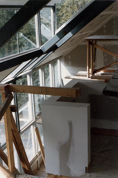 Treistman Residence.  Construction Photo.