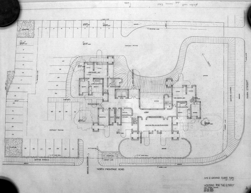 Crawford Manor Housing for the Elderly.  Ground Floor Site Plan.  Dated October 30, 1962.