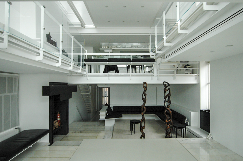 Paul Rudolph Residence at 23 Beekman Place.  Building Interior.  Photo taken March 23, 2007.