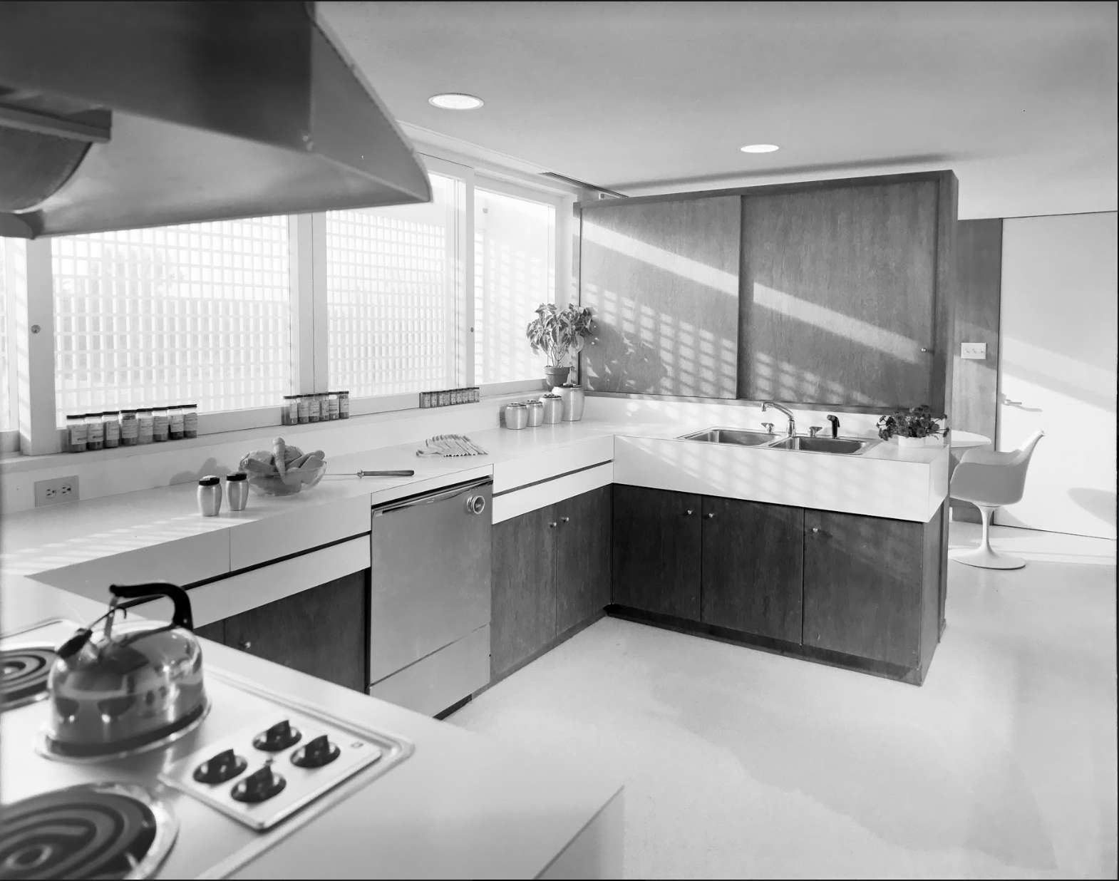 Milam Residence Kitchen, 25 January 1962
