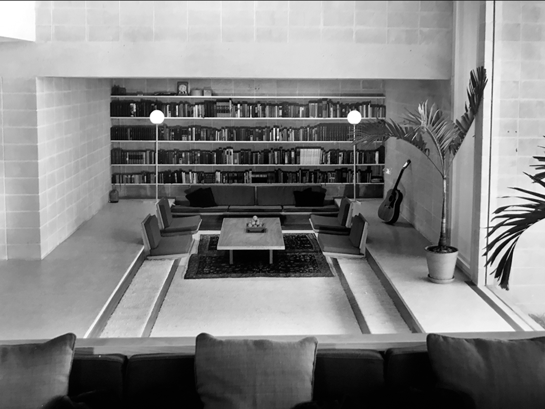 Milam Residence Living Room, 25 January 1962