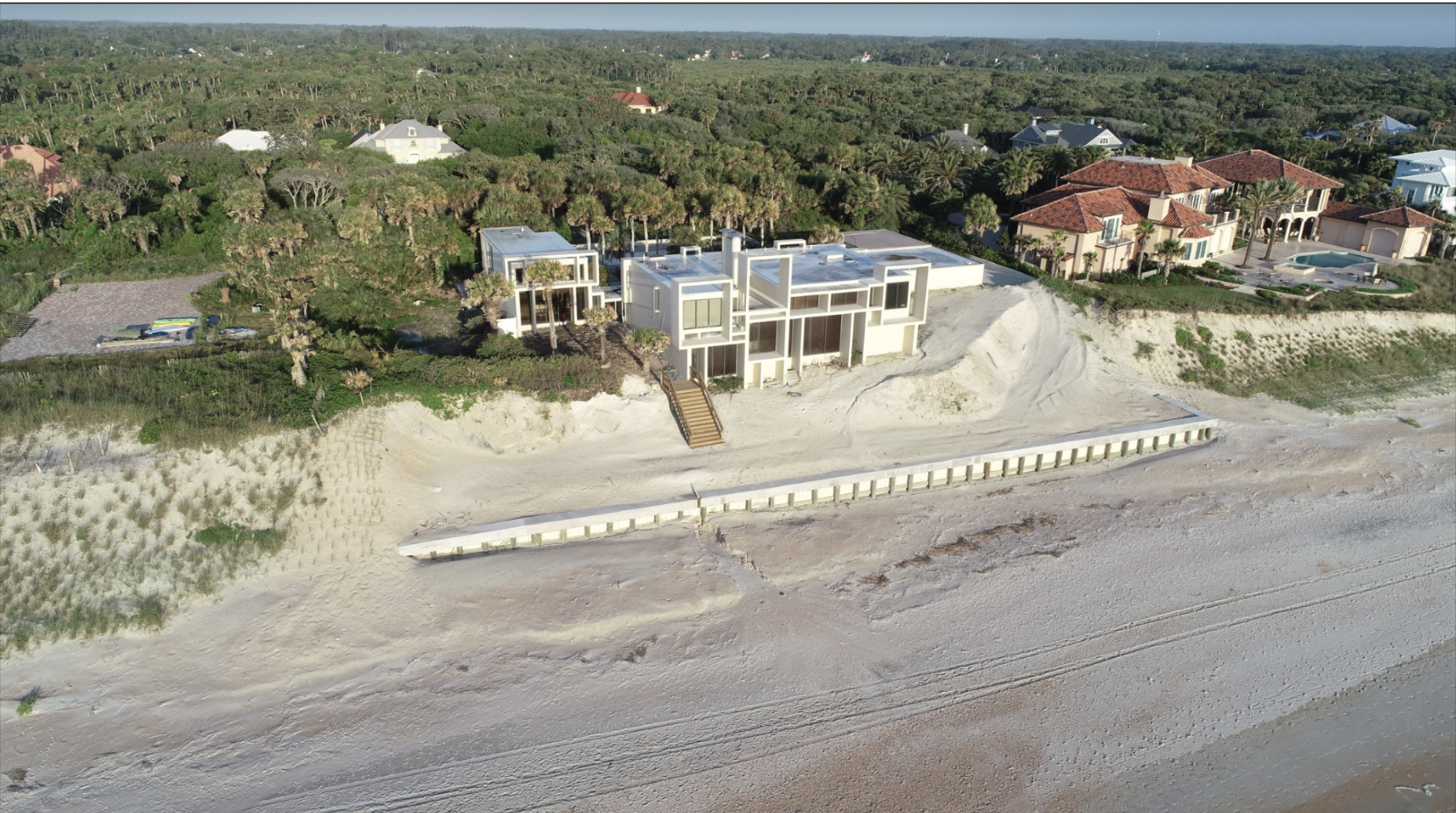 Aerial View of the Milam Residence