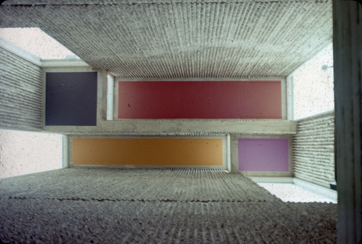 Christian Science Student Center, University of Illinois, Urbana, Illinois. Photograph of Ceiling Interior.
