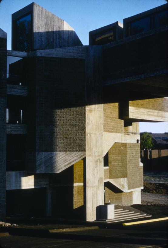 Creative Arts Center (Dana Arts Center), Colgate University, Hamilton, New York. Photo of Building Exterior.