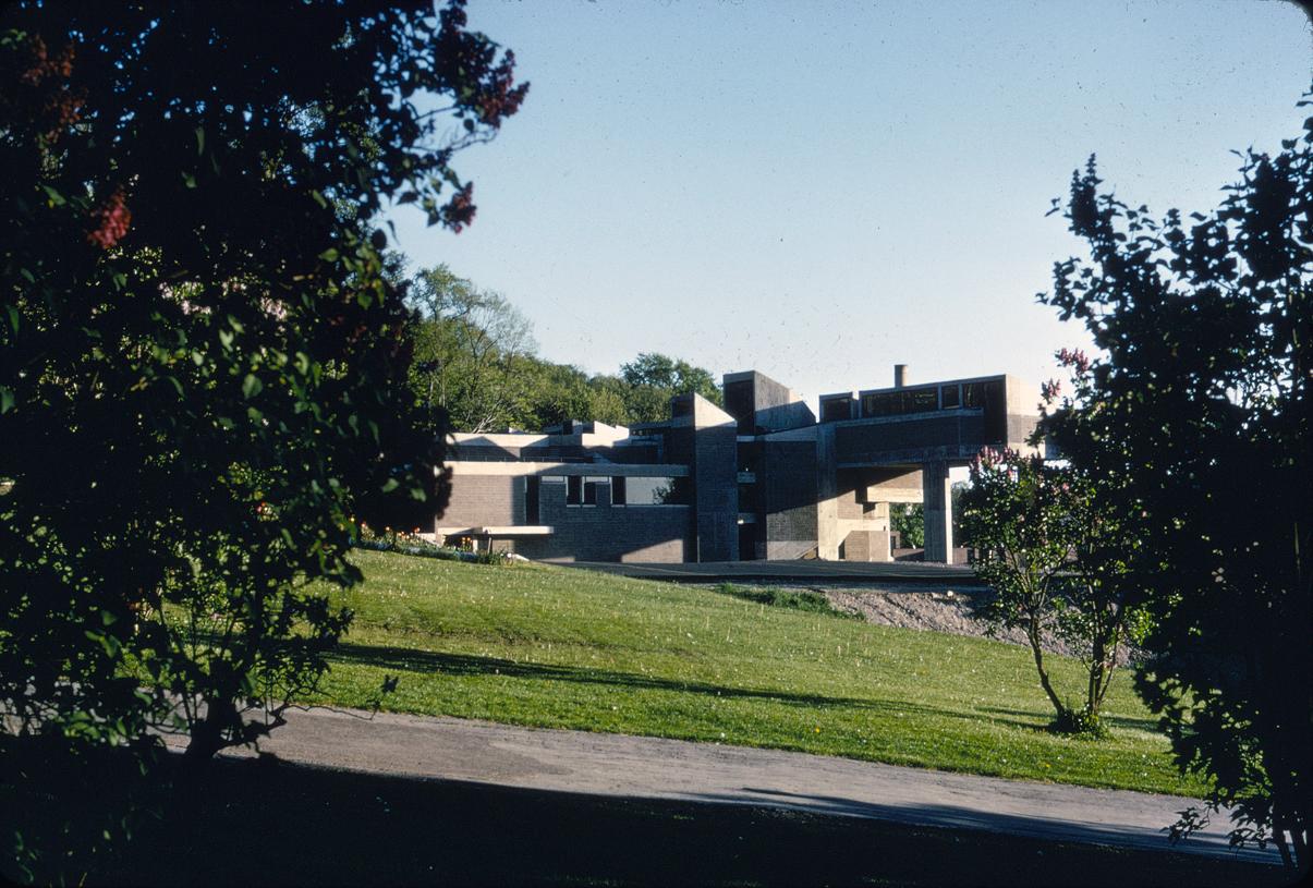 Creative Arts Center (Dana Arts Center), Colgate University, Hamilton, New York. Photo of Building Exterior taken in 1964.