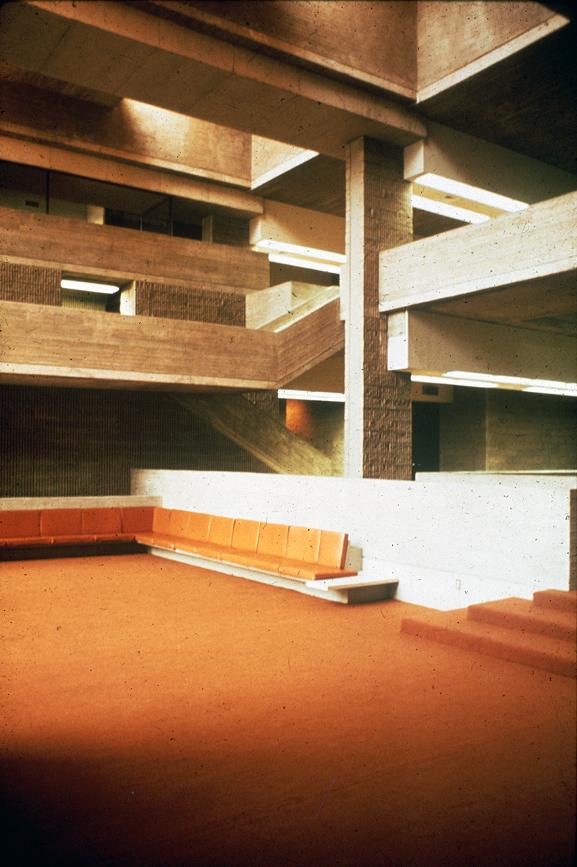 Orange County Government Center, Goshen, New York. Photo of Building Interior.