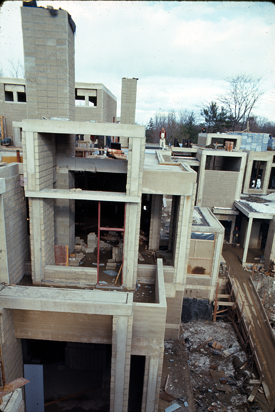 Orange County Government Center, Goshen, New York. Exterior. Photo of Building Exterior Under Construction.